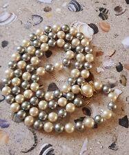 Schöne lange Perlenkette mit original Majorica-Perlen mit 925 Silberschloss