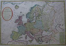 Carte générale de l'Europe - Gesamteuropa - Europa von Herisson - Basset - 1802