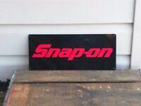 SNAP ON RACING TOOL Mechanic Body Shop Logo Garage METAL SIGN 5x12 50071