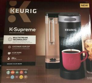 Keurig K-Supreme Single Serve Coffee Maker (Black) NEW SEALED