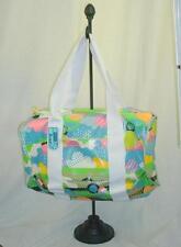"Lesportsac Beach Bag New  ""Pallisades Forecast"" Vinyl Pockets Mesh Fun Print"