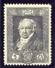 España; 1930 temprana Goya cuestión Fino con bisagras de menta 5c. valor