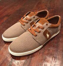 Polo Ralph Lauren Halmore II Shoes Khaki Herringbone New Mens 13 Boat Deck