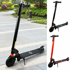 Electric Scooter Folding Adjustable Speed w/ Light Black/Red