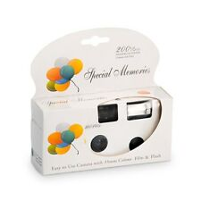 Balloon Design White Disposable Cameras with Flash Pack of 10