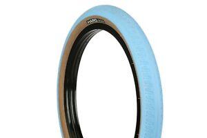 "New Haro HPF BMX Tire 20"" x 2.2 Blue/Skinwall"