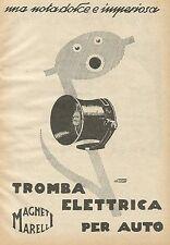 Y1108 Tromba elettrica per auto MAGNETI MARELLI - Pubblicità 1930 - Advertising