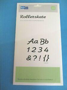 QuicKutz ROLLERSKATE ALPHABET DIE Skinni Mini Unicase NUMBERS Punctuation 4 x 8
