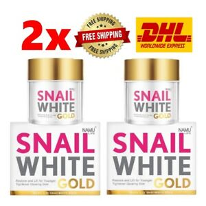 2x Namu Life Snail White Gold Whitening Anti-Aging Restore Repair Facial Cream