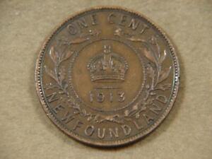 1913 New Foundland 1 Cent Coin