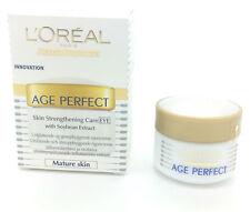 3 X L'oreal Age Perfect Skin fortalecimiento Care Crema Contorno De Ojos 15ml (UE Pack)