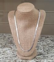 Beautiful Milor Italy 925 Sterling Silver Herringbone Necklace 29""