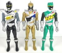 "Power Rangers Dino Charge 12"" Action Figure Bundle Gold Black & Green Ranger"