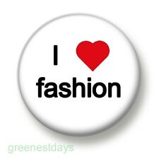 I Love / Heart Fashion 1 Inch / 25mm Pin Button Badge Clothes Shoes Shopping Fun