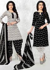 Elegant Crepe Designer Printed Patiala Unstitched Material Suit.No SFD3001