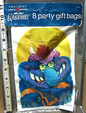 MY PET MONSTER cartoon 1987 vtg party favor gift bags NWT birthday Hallmark