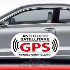 2 ADESIVI ANTIFURTO stickers - GPS - VETRO INTERNO auto FORD #02