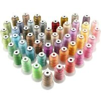 50 Colors Variegated Polyester Embroidery Machine Thread Kit - 500M Each Spool