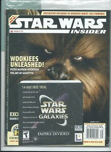 Star Wars Insider #79 Chewbacca Cover Includes SW Galaxies Disc