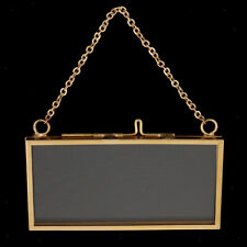 Vintage Two Sided Hanging Clear Glass Hanging Frame Picture Frame Easy Hang