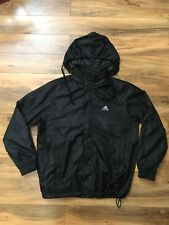 Vintage Adidas Block Logo Blacked Out Windbreaker Sz Large Bboy Hip Hop Lit 100