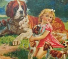 Tuco Junior childs Picture Puzzle vintage little girl with dogs in box complete
