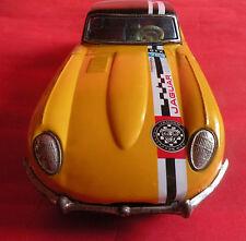 UNIQUE VINTAGE 60'S JAGUAR E-TYPE GTX TIN TOY FRICTION SPORT CAR TAKATOKU JAPAN