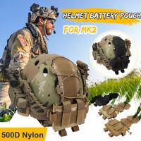Taktische Helm Abdeckung Camo Beuteltasche Kampf MK2 Airsoft Paintball Werkzeug
