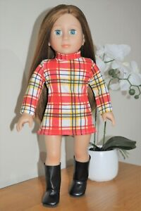"""Fits American Girl DollsOur Generation 18"""" Doll Clothes Red Minnie Dress Only"""