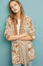 NWT Anthropologie Fringed Intarsia Cardigan by Akemi + Kin Sz. Large