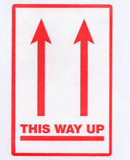 THIS WAY UP LABELS - STICKERS 75mm x112mm . MAKE ME AN OFFER.