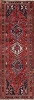 Vintage Tribal Abadeh Oriental Runner Wool Rug Geometric Hand-Knotted 3'x10'