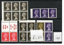 GB - MACHIN (138) - BOOKLET & /or COIL STAMPS - selection - Unmounted Mint