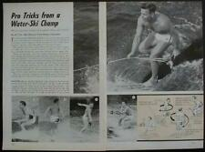 WATER SKI TRICKS Champ AL TYLL 1963 How-To INFO Skiing
