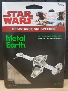 METAL EARTH 3D MODEL KIT - STAR WARS RESISTANCE SKI SPEEDER - NEW IN BOX RRP $21