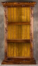 New original hand-carved book shelf made of Red Oak ,Stained in Early American