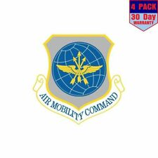 US Air Force Air Mobility Command 4 pack 4x4 Inch Sticker Decal