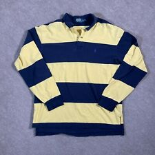 New listing Polo Ralph Lauren Shirt Mens Extra Large Blue Yellow Long Sleeve Rugby Polo