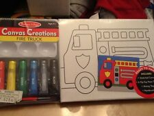 New Melissa and Doug kids crafts fire truck paint set