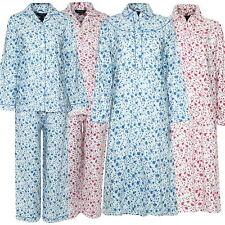 Ladies Blue Sea Champion Winceyette Pyjamas/Nightdress Wincey Brushed Cotton