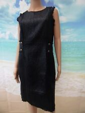 Darling Dulcie black metallic fitted sleeveless dress size UK 14 RRP £95 BNWT