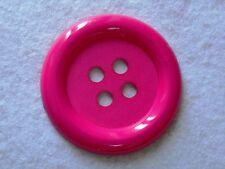 1 BOUTON CLOWN GEANT 62 mm PLASTIQUE Coloris ROSE