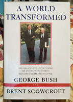 *SIGNED* GEORGE BUSH - A WORLD TRANSFORMED HARDCOVER/1ST ED SCOWCROFT A+ COND.