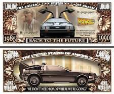 RETOUR VERS LE FUTUR - BILLET MILLION DOLLAR! Collection voiture DELOREAN DMC 12