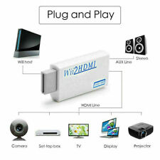 Portable Wii to HDMI Wii2HDMI Full HD Converter Audio Output Adapter TV White