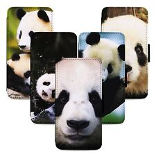 Panda Bear Animals Flip Phone Case Cover Wallet - Fits Iphone 5 6 7 8 X 11