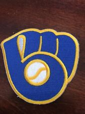 "MILWAUKEE BREWERS BASEBALL VINTAGE Embroidered Iron On Patch  3"" X 2.5"""