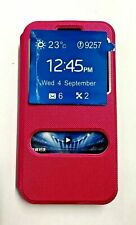 HTC® Desire 816  Leather Case Pink Flip Cover View Window Sliding Smart Answer