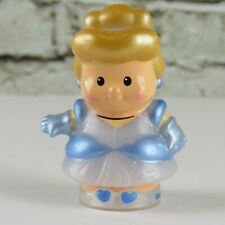 Disney Fisher Price Little People Cinderella Blue Sparkle Dress Figure 2012