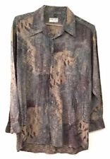 Georg Roth Germany Mens Multicolor Long Sleeve Full Collar Button Front Shirt L